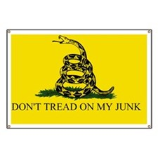 Gadsden Flag -  DONT TREAD ON MY JUNK #7 Banner