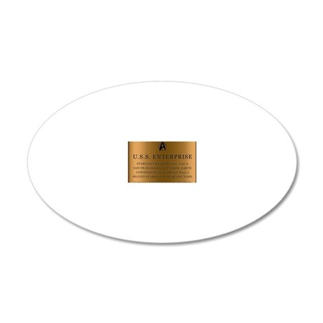 enterpriseplaque04 20x12 Oval Wall Decal