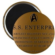 enterpriseplaque04 Magnet