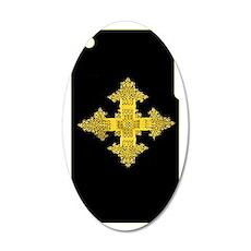 ethiopia cross i-phone 3g ha 35x21 Oval Wall Decal