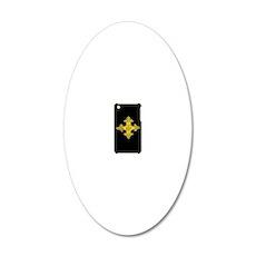 ethiopia cross i-phone 3g ha 20x12 Oval Wall Decal