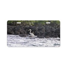 Blue Heron Aluminum License Plate