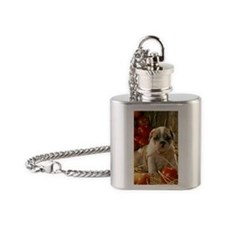 BD Apples oval ornament Flask Necklace