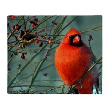 calendar winter cardinal Throw Blanket