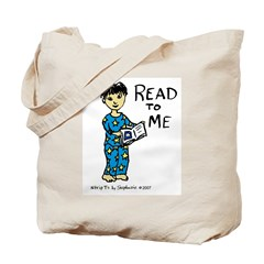 Read To Me boy 1 Tote Bag