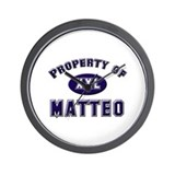 Property of matteo Wall Clock