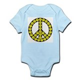 Peace Smilies Sign Onesie