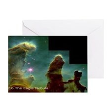 M16 Eagle Nebula Large Poster Greeting Card