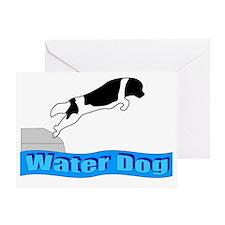 Water Dog - Landseer Greeting Card