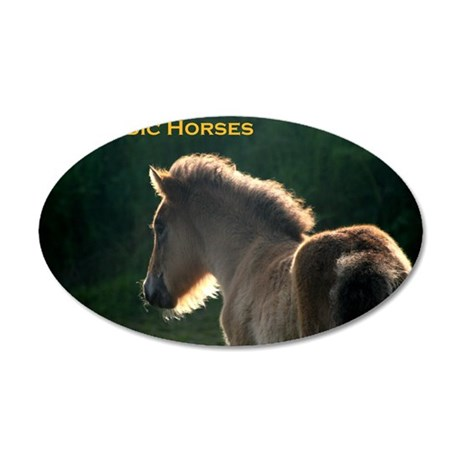 icehorsesbig 35x21 Oval Wall Decal