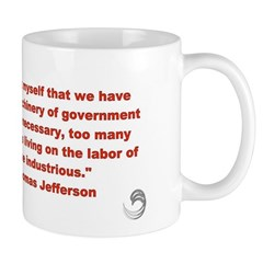 "Thomas Jefferson ""Machinery of gov't"" Mug"