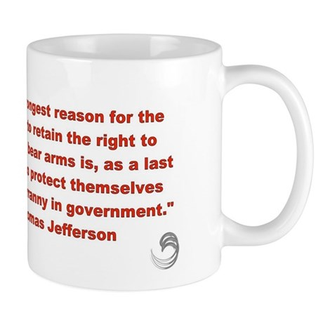 Thomas Jefferson &quot;Keep and Bear Arms&quot; Mug       