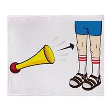 horn-knee Throw Blanket