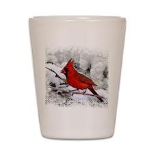 christmascardinal Shot Glass