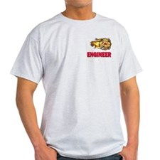 Fire Department Engineer Ash Grey T-Shirt
