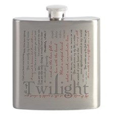 twilight quotes-bLANKET Flask