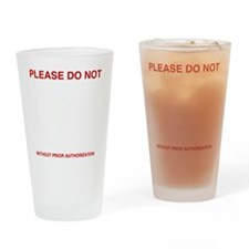 Please-do-not Drinking Glass