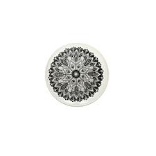 Mandala -BW Mini Button