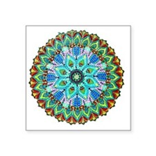 "Mandala -Color Square Sticker 3"" x 3"""