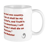 "Daniel Webster ""I am an American"" Mug"