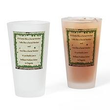 brilliant problem solver Drinking Glass
