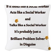 brilliant problem solver 2 Woven Throw Pillow