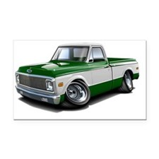 1970-72 Chevy Fleetside Green Rectangle Car Magnet