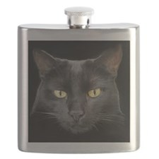Dangerously Beautiful Black Cat Flask