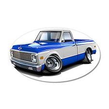 1970-72 Chevy Fleetside Blue Wall Decal