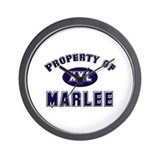Property of marlee Wall Clock