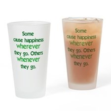 causehappiness1_rnd Drinking Glass