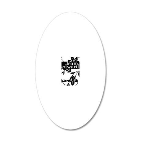 cafepress team edward iphone 20x12 Oval Wall Decal