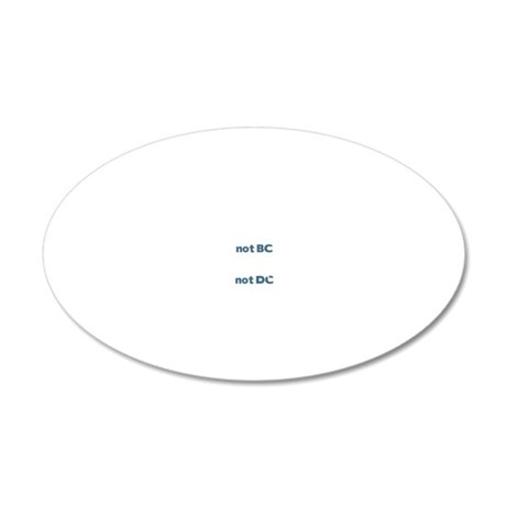 VancouverWABlk 20x12 Oval Wall Decal