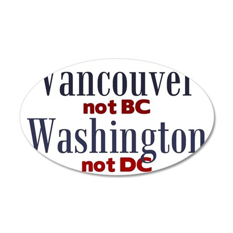 VancouverWA 35x21 Oval Wall Decal
