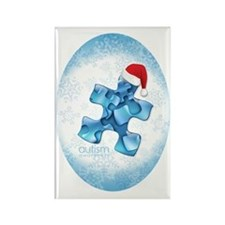 autism_ornament_oval1b Rectangle Magnet