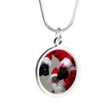 Father Twistmas Silver Round Necklace