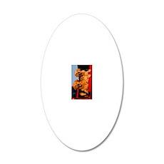 Golden PU journal 20x12 Oval Wall Decal