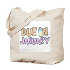 Due In January Girl Tote Bag