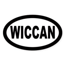 Wiccan Car Oval Decal