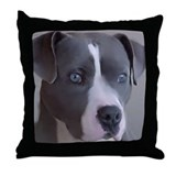 Cute Pit bull lover Throw Pillow