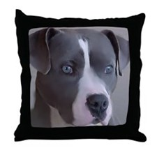 Funny American pit bull terrier Throw Pillow
