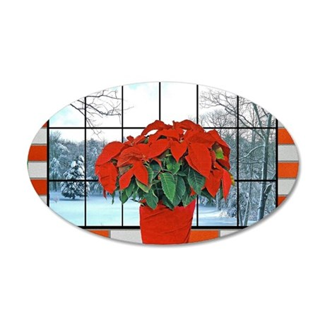 For Friend Christmas Greetin 35x21 Oval Wall Decal