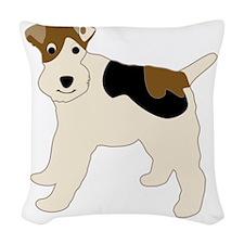 WirehairFoxTerrier-3 Woven Throw Pillow