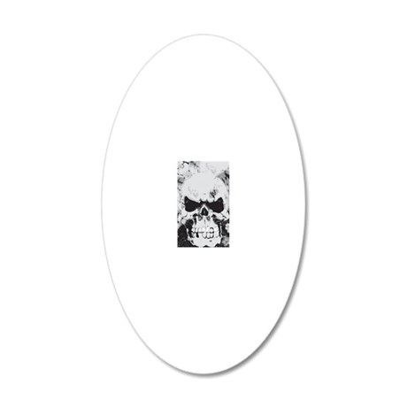 441_iphone_skull 20x12 Oval Wall Decal