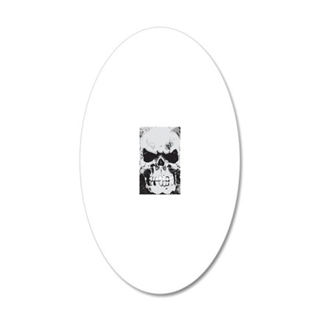 443_iphone_skull 20x12 Oval Wall Decal