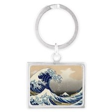 hokusai great wave Landscape Keychain