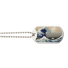 hokusai great wave Dog Tags