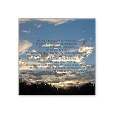 """psalm23button Square Sticker 3"""" x 3"""""""