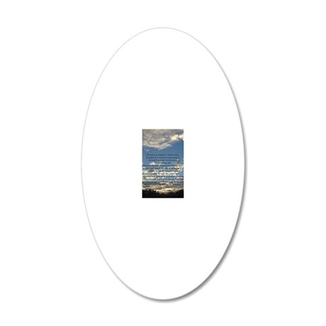 psalm23iphone4 20x12 Oval Wall Decal