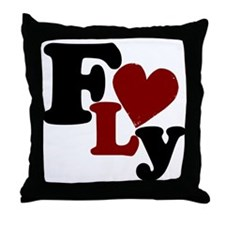 Fly (Heart) Throw Pillow